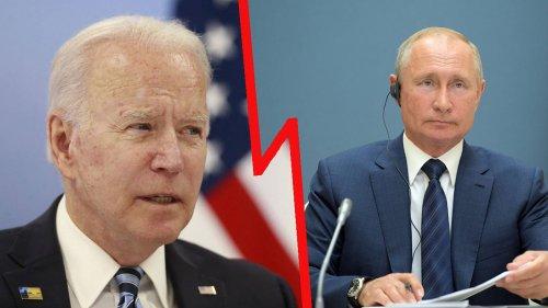 Heftige Attacke: Putin zerstört US-Präsident Biden