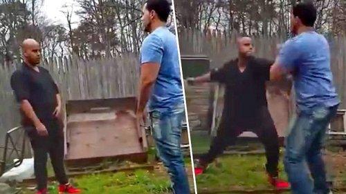 Bodybuilder provoziert Street Fight. Wird brutal ausgeknockt