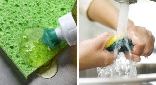 9 erreurs que l'on fait tous avec l'éponge de vaisselle