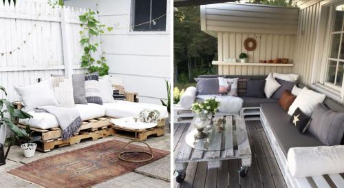 12 magnifiques salons de jardins fabriqués avec de palettes