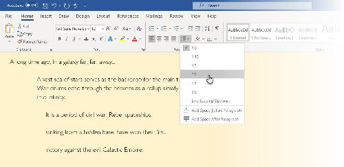 How to Double Space a Word Document