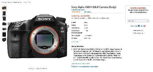 It Looks Like Sony Is Done With DSLR Cameras
