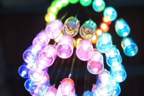 Arduino-Controlled LED Chandelier Made With Mini Jars | Make: