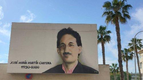 Así es el grafiti que rinde homenaje a José María Martín Carpena en Málaga