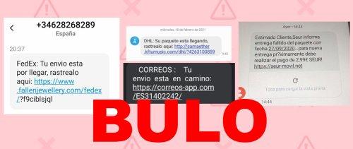 Cuidado con los SMS que suplantan a empresas de envíos y que dicen que tienes una entrega pendiente: puede ser 'phishing' - Maldita.es