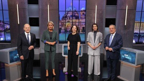 Mindestlohn, Klimakrise & Digitalisierung So lief das letzte TV-Triell zwischen Baerbock, Laschet und Scholz