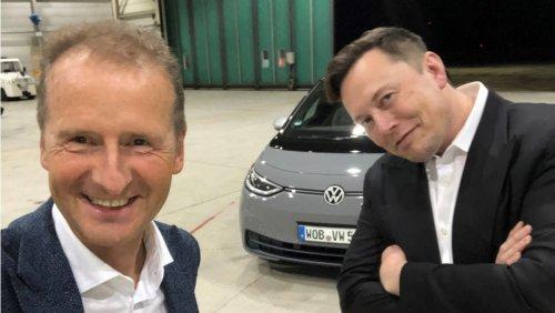 Tesla-Chef als Überraschungsgast Elon Musk besucht VW-Führungskräfte - virtuell