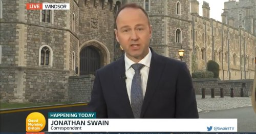 GMB reporter has 'sombre respectful' tribute to The Queen interrupted