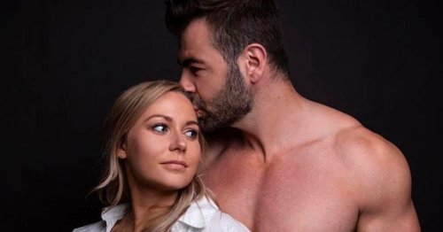 Hollyoaks actor David Tag poses for romantic pregnancy photoshoot