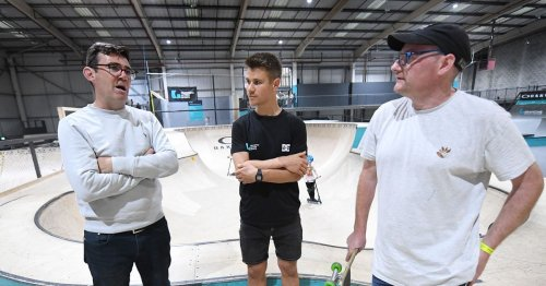 Andy Burnham tries skateboarding after controversial Olympics tweet