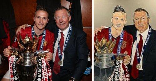 Alexander Buttner's imperfect Man United Sir Alex Ferguson mural mocked by fans