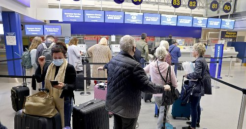 The view from Manchester Airport as passengers catch first flight to Portugal