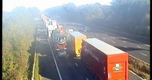 LIVE: M6 closed as air ambulance lands at crash
