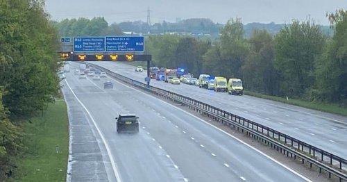 Woman, 33, dies following crash on M66 motorway near Bury