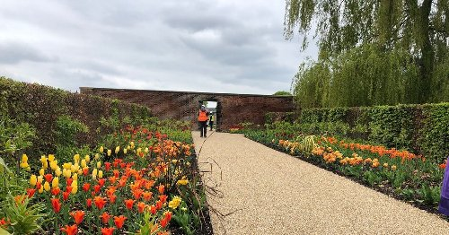 Salford's new RHS Garden Bridgewater opens - with protesters at the gate