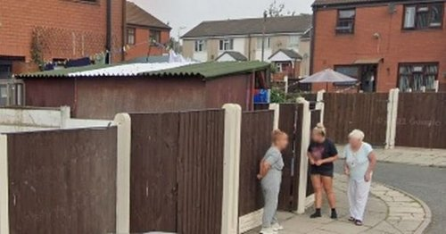 Woman's X-rated pose caught on Google Maps Street View
