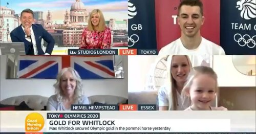 GMB fans distracted by Max Whitlock's daughter in hilarious interview