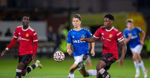 Man United's U23s beat Everton as Anthony Elanga scores and is sent-off in melee