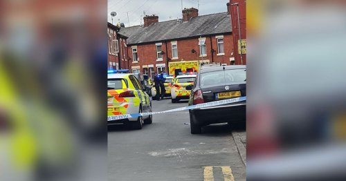 Large emergency service response after incident in Gorton