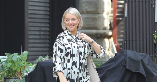 Sheridan Smith reveals stunning new look as she films in Manchester