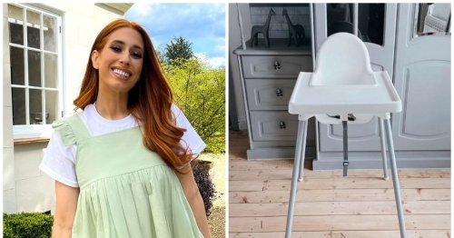 Stacey Solomon transforms £12 IKEA high chair with Scandi look