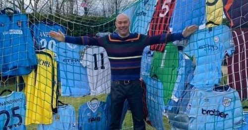 Meet the Man City fan with the world's biggest collection of player shirts