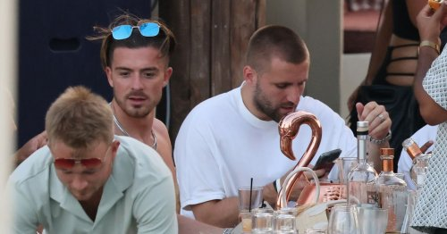 Luke Shaw parties with fellow England star Jack Grealish on holiday in Mykonos