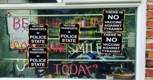 Opticians' brilliant response as protesters target store below MP's office