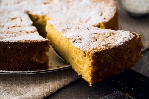 Couscous Topfen Apfel Kuchen