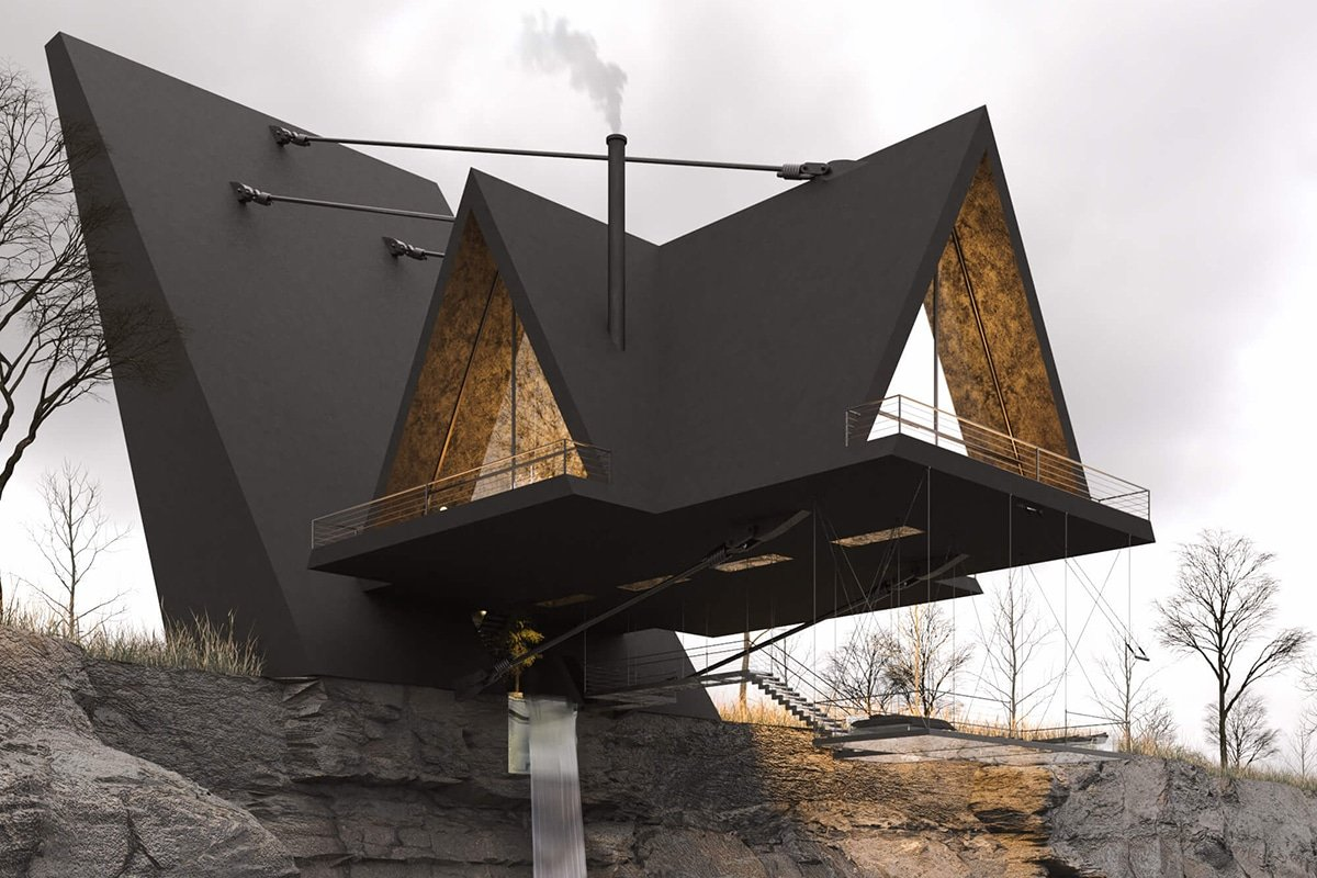 This Glass-Bottomed House Dangles Precariously Off the Edge of a Cliff