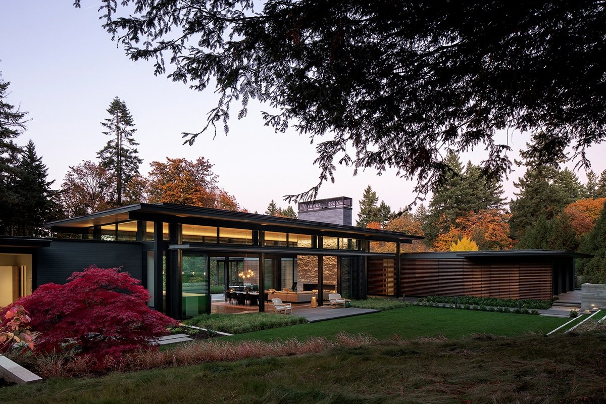 This Incredible Glass Link House has a Secret Whiskey Room