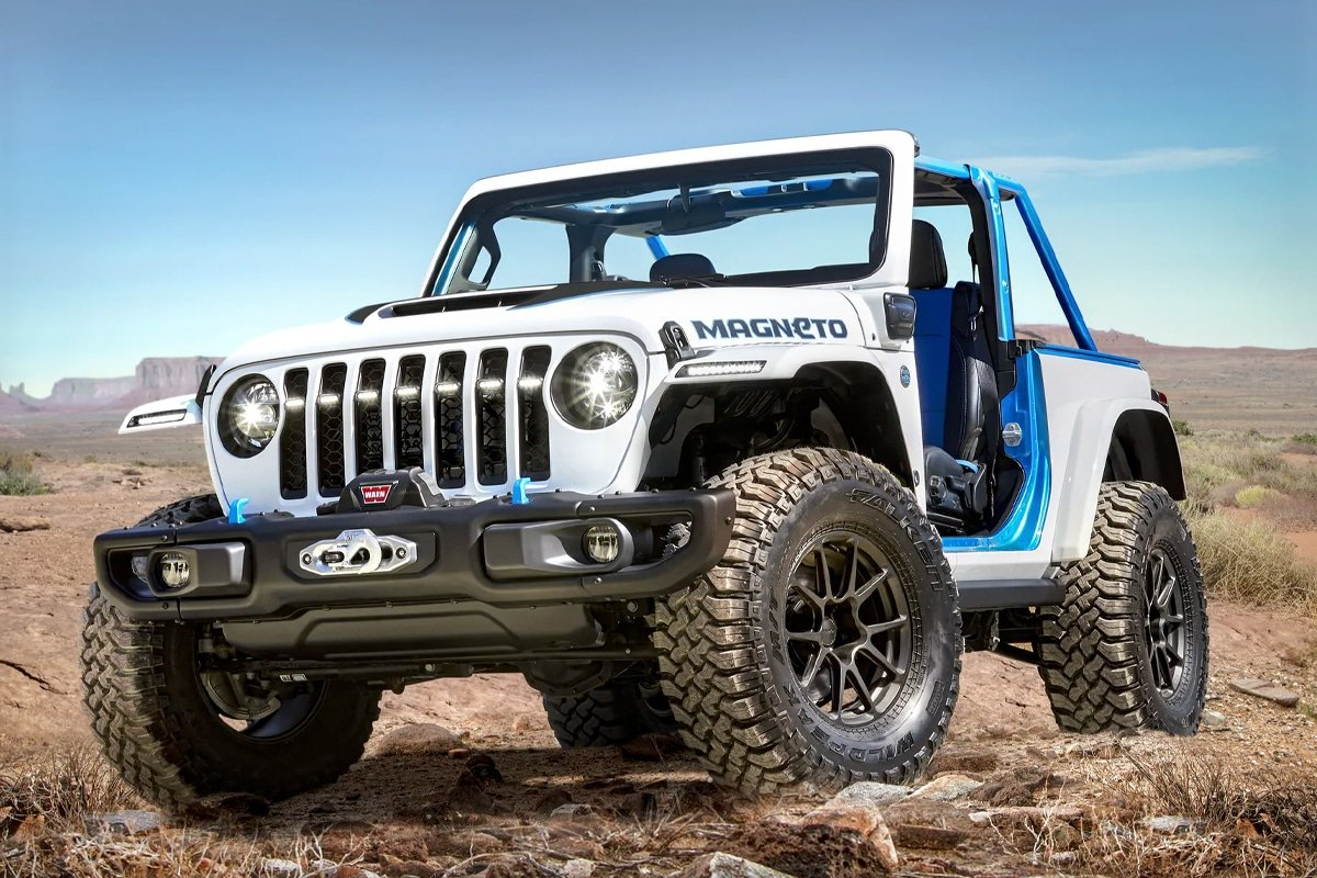 10. Jeep's 'Magneto' Fully Electric Wrangler Concept is a Stick Shift Tease
