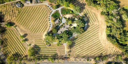 Newly Listed Wine Country Estate Features a Century-Old Chapel Made of Stone and Stained Glass
