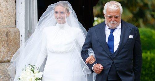 El vestido de novia de Lucía Bárcena y los detalles de su boda