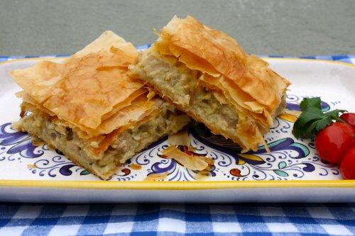 New Year's Day Greek Filo Chicken Pie (Kotopita) - Marilena's Kitchen