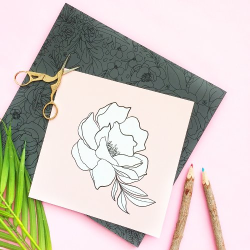 Free Printable Coloring Page - Single Flower Wall Art