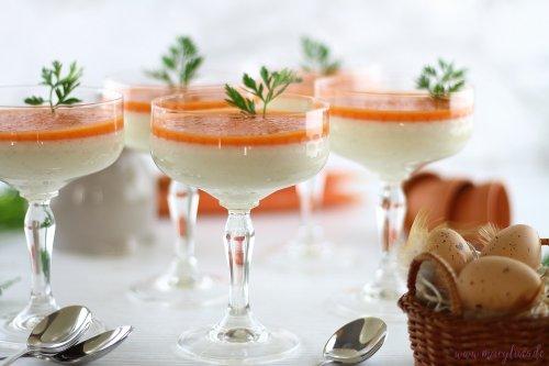 Süßer Osterbrunch: Buttermilch-Honig Panna Cotta mit Karotten-Topping - Mary loves