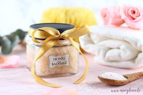 DIY-Geschenkidee: Natürliches Honig-Vanille Badesalz - Mary loves