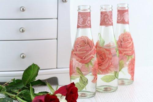 DIY-Blumenvasen mit Serviettentechnik gestalten - Mary loves