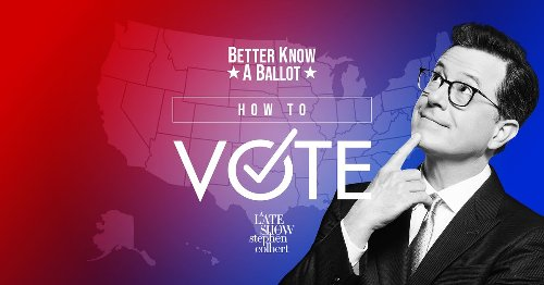 Stephen Colbert's election website shows you how to vote state-by-state