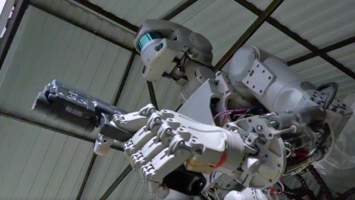 Russia adds gun slinging to its humanoid space robot's list of helpful skills