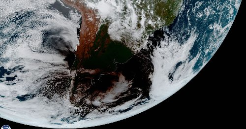 This amazing GIF shows a solar eclipse moving across the Earth