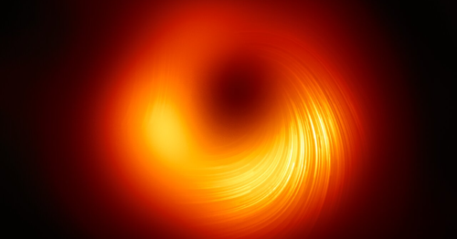 Mesmerizing image of black hole reveals magnetic field