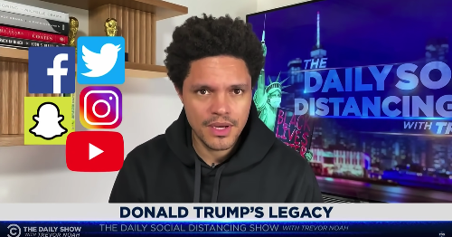 Trevor Noah calls BS on Fox News and social media companies in Capitol riot recap