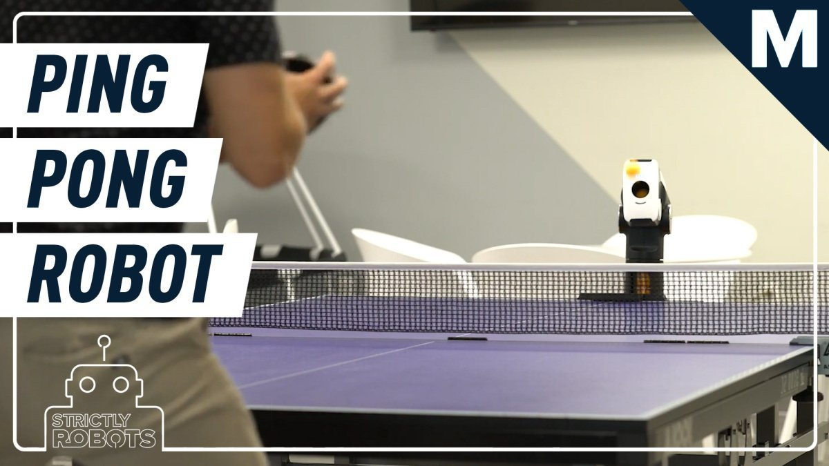Up your table tennis game by playing against this smart robot