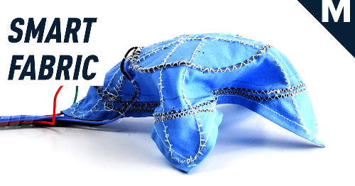 Researchers developed a robotic fabric that can move by itself