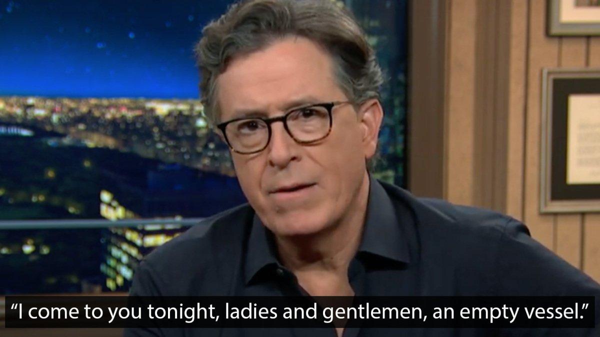 Stephen Colbert unpacks standout moments of that disastrous Biden-Trump debate