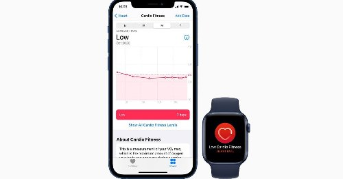 Apple Watch now monitors (and notifies you about) low-level cardio fitness
