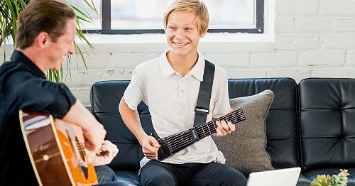 Forget guitar lessons — this device will teach you how to play like a pro