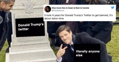 The internet celebrates Trump's Twitter suspension with snarky memes